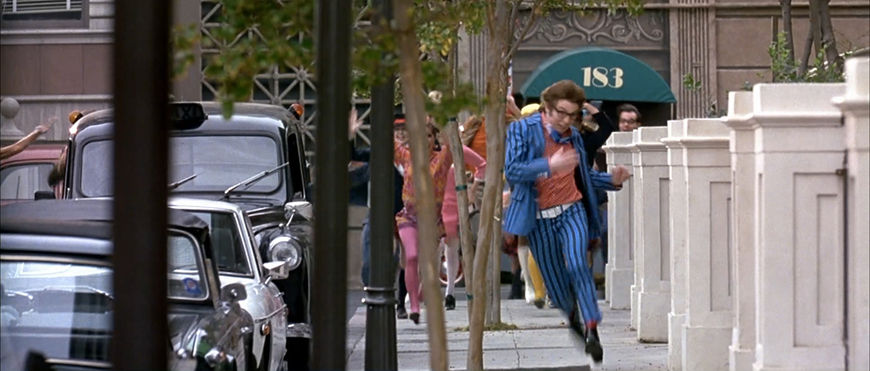 IMAGE: Still of Austin being chased