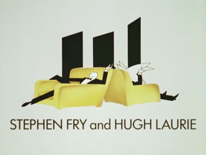 IMAGE: Still – Fry & Laurie credit with illustration