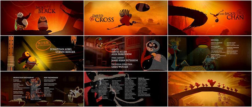 Kung Fu Panda - end credits
