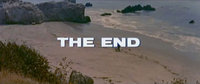 "IMAGE: Gidget ""the end"" card"