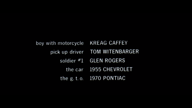 IMAGE: End credits listing cars as characters