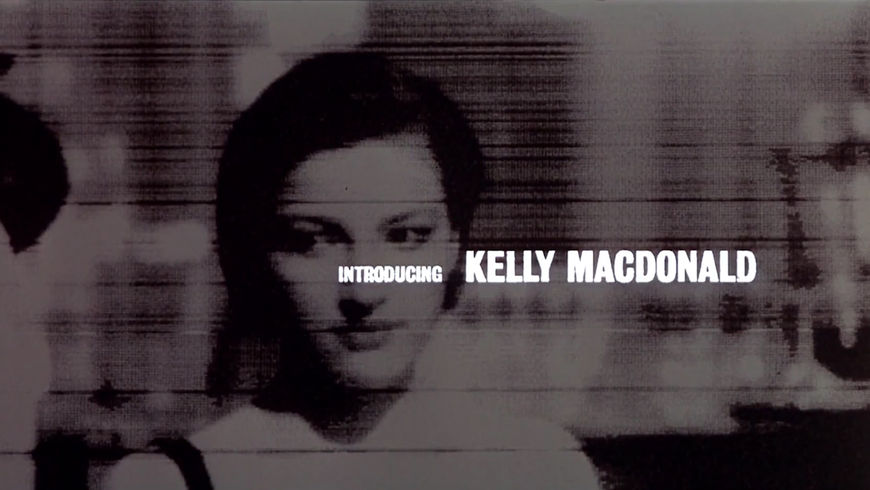 IMAGE: Still - Kelly MacDonald's card in the end title sequence