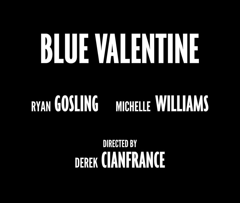 Blue Valentine   Custom Typeface