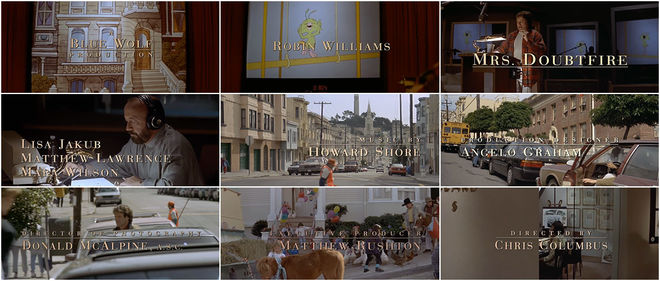 VIDEO: Title Sequence - Mrs. Doubtfire