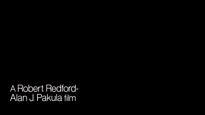 IMAGE: Redford-Pakula credit still