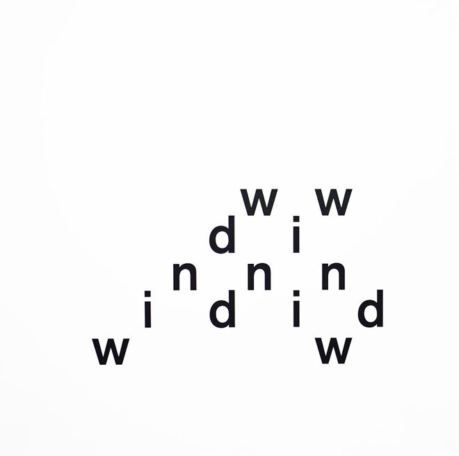 IMAGE: wind by Eugen Gomringer concrete poetry