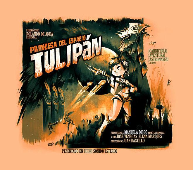 Princesa Del Espacio Tulipan poster by Kevin Dart