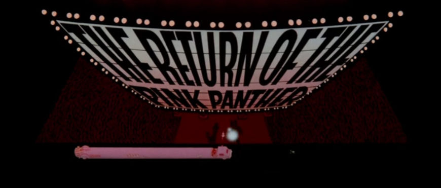 VIDEO: Title Sequence – The Return of the Pink Panther (1975)