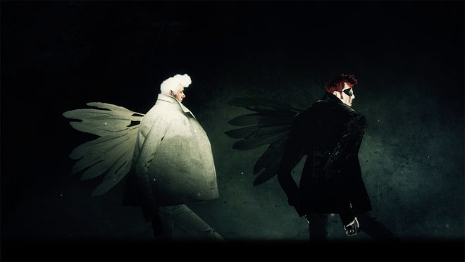 IMAGE: Still 1 - Aziraphale and Crowley