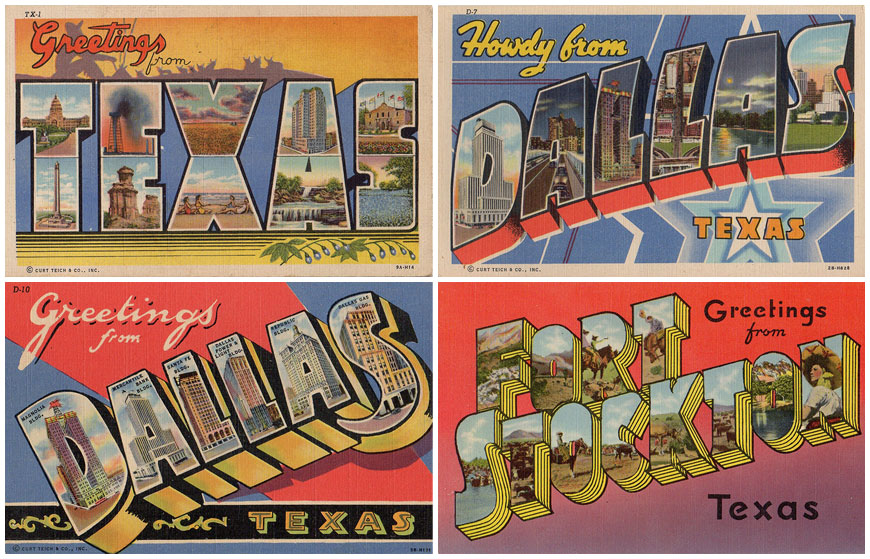 IMAGE: Wish You Were Here Postcard Examples