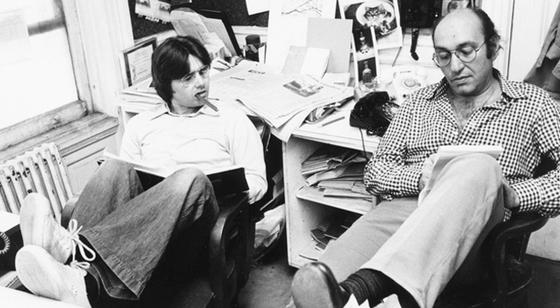 IMAGE: Walter Bernard and Milton Glaser at WBMG